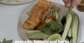 Hayden's Soy Glazed Salmon Salad