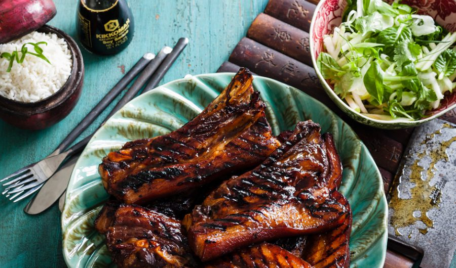 Braised Barbecued Honey and Soy Pork Ribs