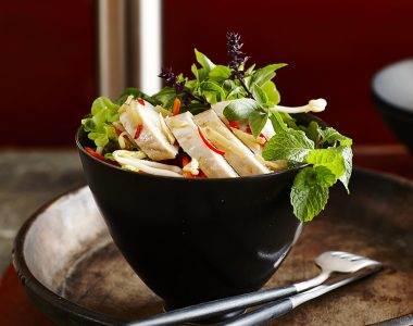 Asian-Flavoured Chicken Parcels with Butter Lettuce Salad