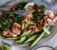 Honey Soy Glazed Salmon Salad