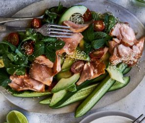 Honey Soy Glazed Salmon Salad