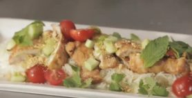 Sweet Chilli, Ginger & Soy Chicken on Coconut Rice