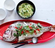 Oven-baked Snapper with Asian Flavours and Chinese Cabbage Salad