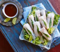 Duck Rice Paper Rolls with Asian Dipping Sauce