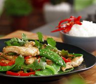 Hot Sesame Chicken Stir Fry with Honey and Soy