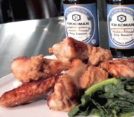 Gluten Free Chicken Nibbles with Spinach and Peanut Sauce