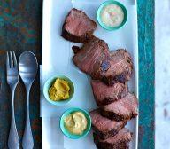 Marinated Roast Beef with Mustard