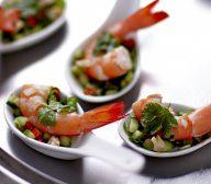 Mini Thai Prawn Salads with Coconut Dressing
