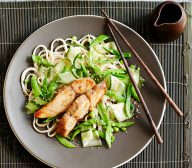 Miso Marinated Kingfish Fillets with Noodles & Snow Pea Salad