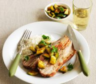 Miso Roasted Pork Belly with Pickled Cucumber