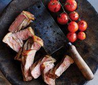 Rump Steak with Baby Truss Tomatoes, Rocket Salad & Garlic Mayonnaise