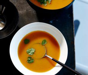 Sweet Potato Soup with Thai Flavours