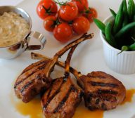 Spring Lamb Cutlets, Beans and Baby Tomatoes