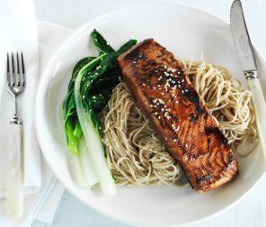 Teriyaki Salmon with Soba Noodles
