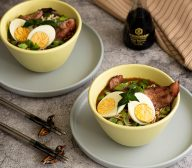 Breakfast Egg, Bacon and Buttered Toast Ramen