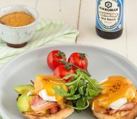 Egg and Bacon Benedict With Soy Hollandaise