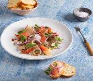 Blood Orange and Soy Kingfish and Scallop Ceviche