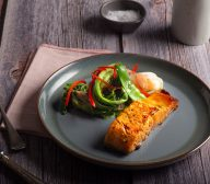 Soy Ginger Glazed Salmon With Steamed Green Vegetables