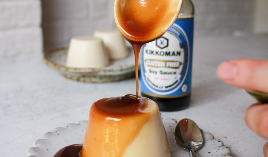 Soy Milk Pudding with Sweet Soy Sauce Glaze