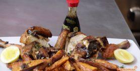 Jamaican Jerk Beer – Can Chicken with Sweet Potato Wedges