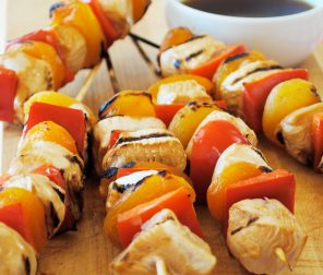 Barbecue Chicken & Apricot Skewers