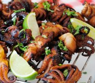 BBQ Octopus with Sweet Chilli Sauce