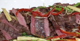 Cape Grim Scotch Fillet with Asian Salad & Kikkoman Soy Vinaigrette