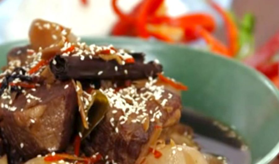 Sesame, Ginger and Soy Slow Cooked Beef Ribs