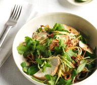 Soy-Poached Chicken and Green Mango Salad