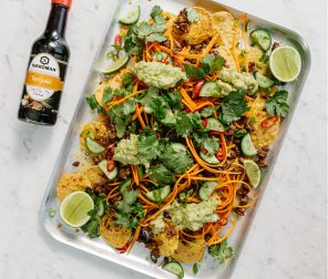 Asian Beef Nachos with Chilli Soy Guacamole