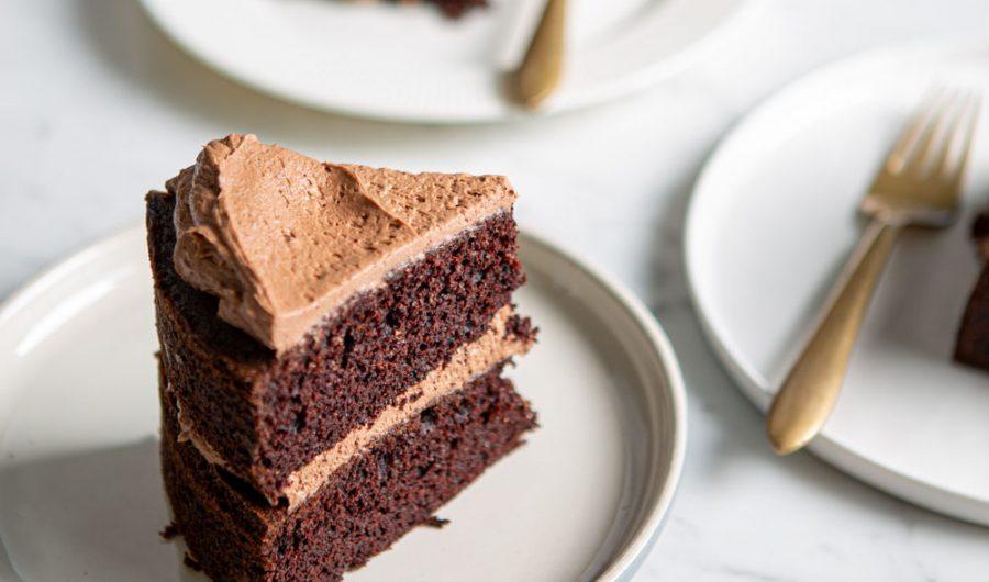 Gluten-Free Choc Layer Cake with Choc-Soy Buttercream
