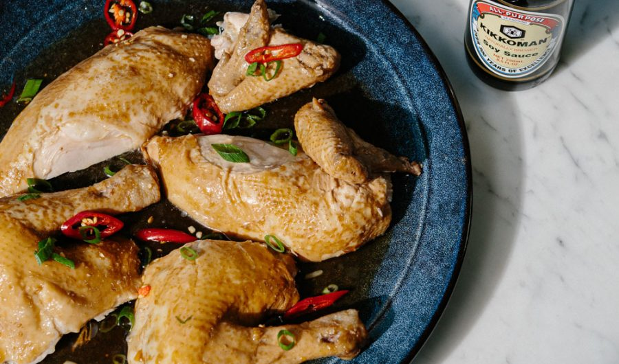 Soy Poached Whole Chicken